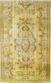 Colored Vintage Rug 160X265 Authentic  Modern Handknotted Yellow/Light Brown (Wool, Turkey)