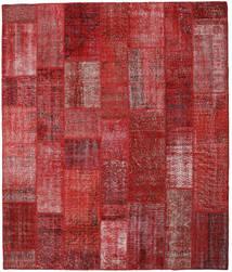 Patchwork Matto 251X297 Moderni Käsinsolmittu Tummanpunainen/Punainen Isot (Villa, Turkki)