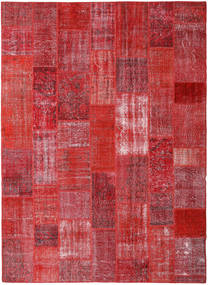 Patchwork Rug 253X347 Authentic  Modern Handknotted Crimson Red/Rust Red Large (Wool, Turkey)