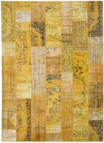 Patchwork Rug 272X375 Authentic  Modern Handknotted Yellow/Brown Large (Wool, Turkey)