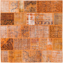 Patchwork Rug 198X198 Authentic  Modern Handknotted Square Orange/Light Brown (Wool, Turkey)