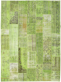 Patchwork Rug 274X370 Authentic  Modern Handknotted Light Green/Olive Green Large (Wool, Turkey)