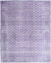 Colored Vintage Rug 245X305 Authentic  Modern Handknotted Light Purple/Purple (Wool, Persia/Iran)