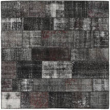 Patchwork Rug 252X253 Authentic  Modern Handknotted Square Dark Grey Large (Wool, Turkey)