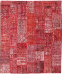 Patchwork Matto 253X298 Moderni Käsinsolmittu Ruoste/Punainen Isot (Villa, Turkki)