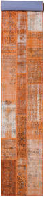 Patchwork Rug 81X610 Authentic  Modern Handknotted Hallway Runner  Light Brown/Orange (Wool, Turkey)