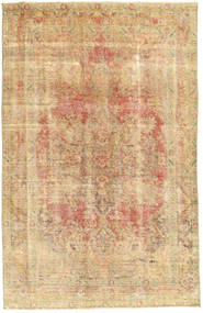 Colored Vintage Rug 185X295 Authentic  Modern Handknotted Beige/Dark Beige (Wool, Persia/Iran)