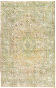 Colored Vintage Rug 200X310 Authentic Modern Handknotted Light Green/Dark Beige (Wool, Persia/Iran)