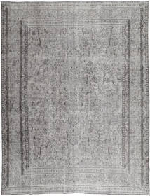 Colored Vintage Rug 290X380 Authentic  Modern Handknotted Light Grey/Dark Grey Large (Wool, Persia/Iran)