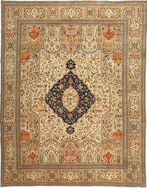 Tabriz Patina Tabatabi Rug 295X390 Authentic  Oriental Handknotted Light Brown/Brown Large (Wool, Persia/Iran)