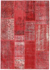 Patchwork Dywan 141X201 Nowoczesny Tkany Ręcznie Czerwony/Rdzawy/Czerwony (Wełna, Turcja)
