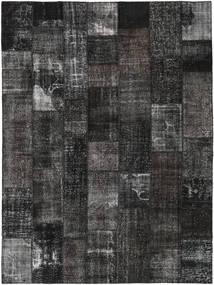 パッチワーク 絨毯 275X370 モダン 手織り 濃いグレー/黒 大きな (ウール, トルコ)
