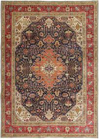 Tabriz Patina Matto 245X348 Itämainen Käsinsolmittu Vaaleanruskea/Tummanruskea (Villa, Persia/Iran)