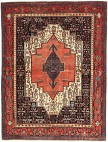 Hamedan Patina Koberec 125X160 Orientální Ručně Tkaný Tmavě Hnědá/Hnědá (Vlna, Persie/Írán)