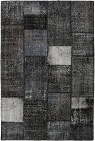 Patchwork Rug 160X237 Authentic  Modern Handknotted Black/Dark Grey (Wool, Turkey)