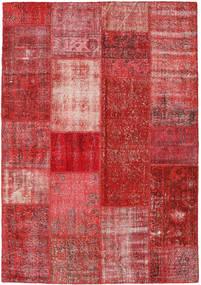 Patchwork Alfombra 158X228 Moderna Hecha A Mano Rojo Oscuro/Óxido/Roja (Lana, Turquía)