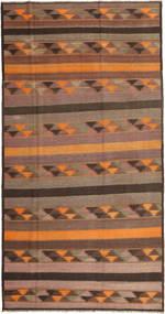 Kilim Fars Rug 195X380 Authentic  Oriental Handwoven Light Brown/Brown (Wool, Persia/Iran)
