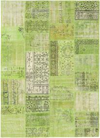 Patchwork Alfombra 161X226 Moderna Hecha A Mano Verde Claro/Verde Oliva (Lana, Turquía)