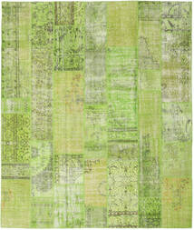 Patchwork Rug 254X302 Authentic Modern Handknotted Light Green/Olive Green Large (Wool, Turkey)