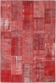Patchwork Matto 203X303 Moderni Käsinsolmittu Ruoste/Tummanpunainen (Villa, Turkki)