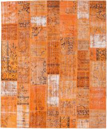 Patchwork Teppe 252X303 Ekte Moderne Håndknyttet Orange/Lysbrun Stort (Ull, Tyrkia)