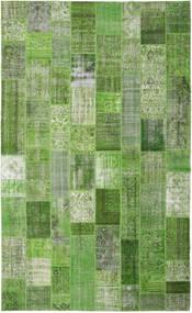 Patchwork Teppe 304X500 Ekte Moderne Håndknyttet Mørk Grønn/Lysgrønn Stort (Ull, Tyrkia)