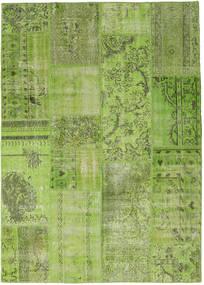 Patchwork Alfombra 161X227 Moderna Hecha A Mano Verde Oliva/Verde Claro (Lana, Turquía)