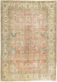 Colored Vintage Rug 195X287 Authentic  Modern Handknotted Light Brown/Dark Beige (Wool, Persia/Iran)