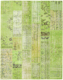 Patchwork Rug 201X255 Authentic  Modern Handknotted Light Green (Wool, Turkey)