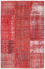 Patchwork Tapis 120X186 Moderne Fait Main Rouge/Rouille/Rouge (Laine, Turquie)