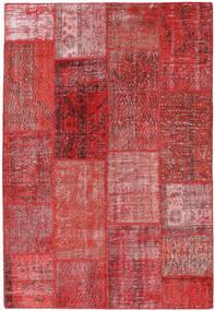 Patchwork Teppich  161X236 Echter Moderner Handgeknüpfter Dunkelrot/Lila (Wolle, Türkei)