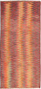Kilim Fars Rug 145X337 Authentic  Oriental Handwoven Hallway Runner  Orange/Rust Red/Light Brown (Wool, Persia/Iran)
