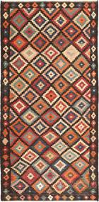 Kilim Fars Rug 155X327 Authentic  Oriental Handwoven Dark Brown/Brown (Wool, Persia/Iran)