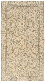 Colored Vintage Rug 111X202 Authentic  Modern Handknotted Light Brown/Beige (Wool, Turkey)
