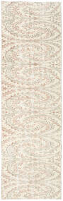 Colored Vintage Rug 74X247 Authentic  Modern Handknotted Hallway Runner  Beige/Light Grey (Wool, Turkey)