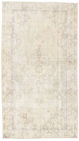 Colored Vintage Rug 114X205 Authentic  Modern Handknotted Beige/Light Brown (Wool, Turkey)