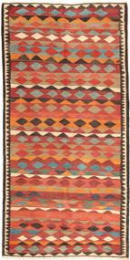 Kilim Fars Rug 147X300 Authentic  Oriental Handwoven Orange/Dark Brown (Wool, Persia/Iran)