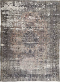 Colored Vintage Rug 282X386 Authentic  Modern Handknotted Light Grey/Dark Grey/Dark Brown Large (Wool, Persia/Iran)