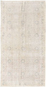 Colored Vintage Rug 97X190 Authentic  Modern Handknotted Light Grey (Wool, Turkey)
