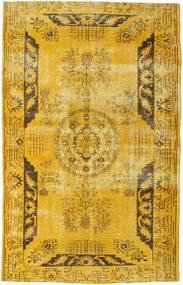 Colored Vintage Rug 192X306 Authentic  Modern Handknotted Yellow/Brown (Wool, Turkey)