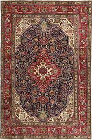 Tabriz Patina Matto 202X307 Itämainen Käsinsolmittu Ruskea/Tummanruskea (Villa, Persia/Iran)