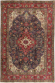 Tabriz Patina Teppe 202X307 Ekte Orientalsk Håndknyttet Brun/Mørk Brun (Ull, Persia/Iran)