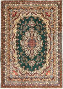 Tabriz Patina Teppe 237X344 Ekte Orientalsk Håndknyttet Mørk Grå/Lysbrun (Ull, Persia/Iran)