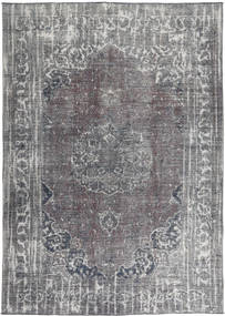 Colored Vintage Rug 196X280 Authentic  Modern Handknotted Light Grey/Purple (Wool, Persia/Iran)