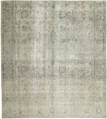 Colored Vintage Rug 288X318 Authentic  Modern Handknotted Light Grey/Dark Grey Large (Wool, Persia/Iran)
