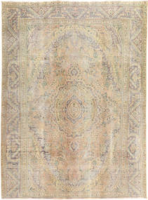 Colored Vintage Rug 195X265 Authentic  Modern Handknotted Light Brown/Light Grey (Wool, Persia/Iran)