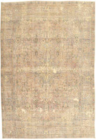 Colored Vintage Rug 198X292 Authentic  Modern Handknotted Light Brown/Dark Beige (Wool, Persia/Iran)