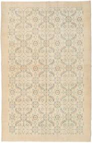 Colored Vintage Rug 167X260 Authentic  Modern Handknotted Dark Beige/Beige/Light Brown (Wool, Turkey)