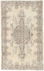 Colored Vintage Rug 161X263 Authentic  Modern Handknotted Light Brown/Beige (Wool, Turkey)