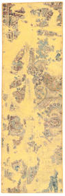 Colored Vintage Matta 68X223 Äkta Modern Handknuten Hallmatta Ljusbrun/Gul (Ull, Persien/Iran)